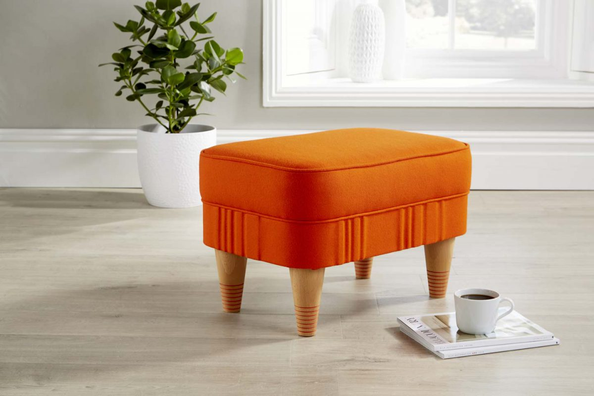 Bespoke Footstool - orange